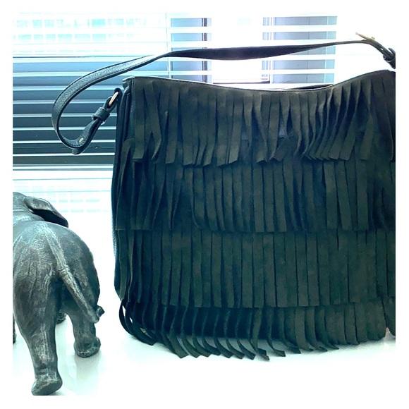 Free People Handbags - NWOT Free People fringe hobo bag